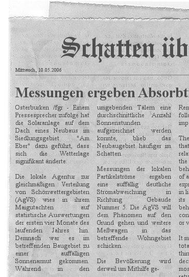 Neulich in der Tageszeitung