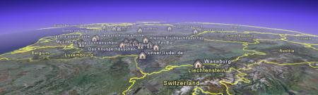 Hausbaublogger Deutschlandkarte für GoogleEarth