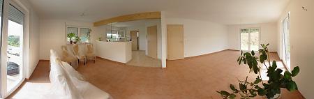 Panorama vom Wohnzimmer