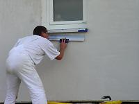 Verspachteln der Fassade