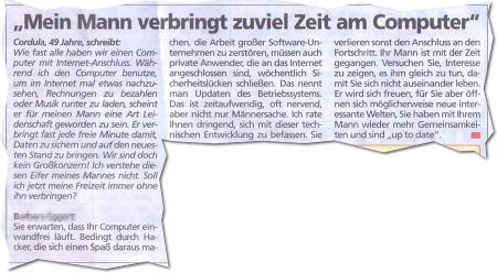Frau Kummerkasten: Männer und Computer...