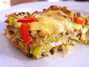 Lauch-Haselnuss-Lasagne