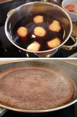 Reh-Ragout in Gewürzwein mit Birnen und Knöpfle Zubereitung