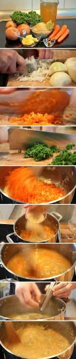 Grünkernsuppe Zubereitung