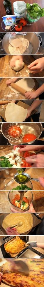Pizzabrot mit Basilikum-Sugo - Zubereitung