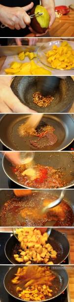 Spicey Mango-Chutney - Zubereitung