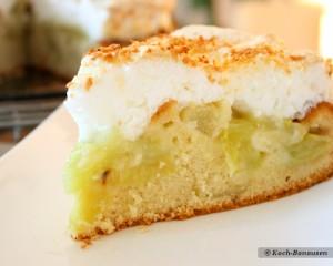 Rhabarberkuchen mit Cocosbaiser