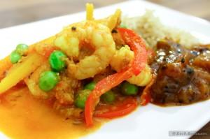 Patia Curry: Garnelen-Gemüse-Curry - auf dem Teller